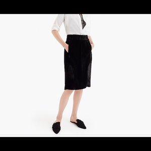 J crew pull on velvet skirt NWT XS